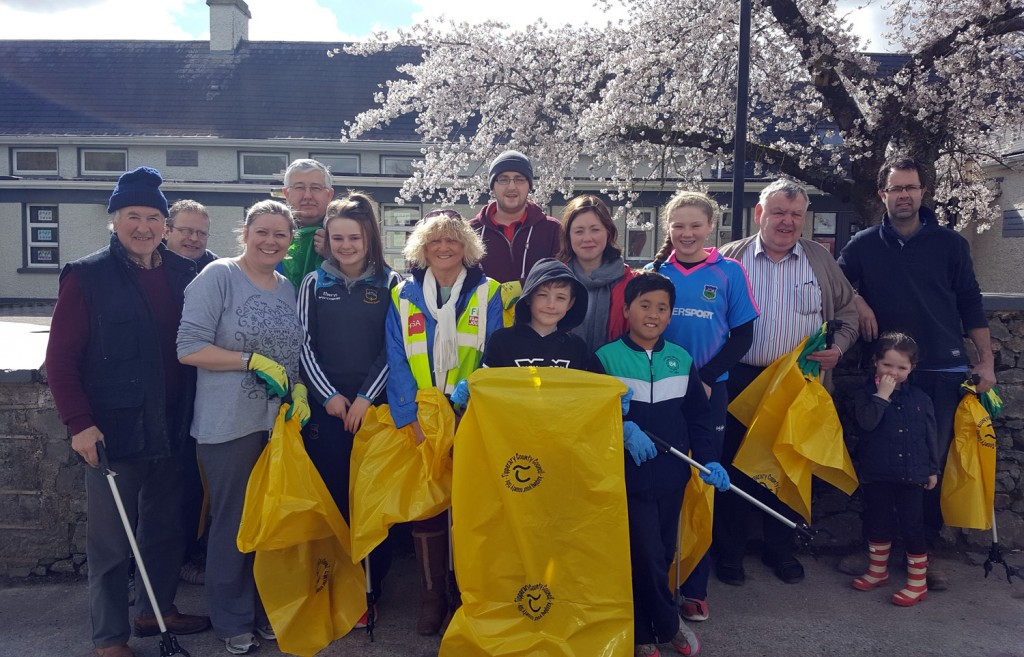 Cloneen Village Clean Up April 2016